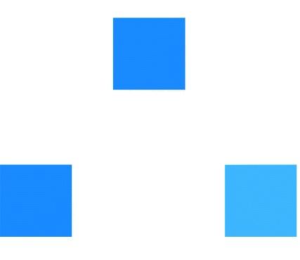 Quadrados azuis